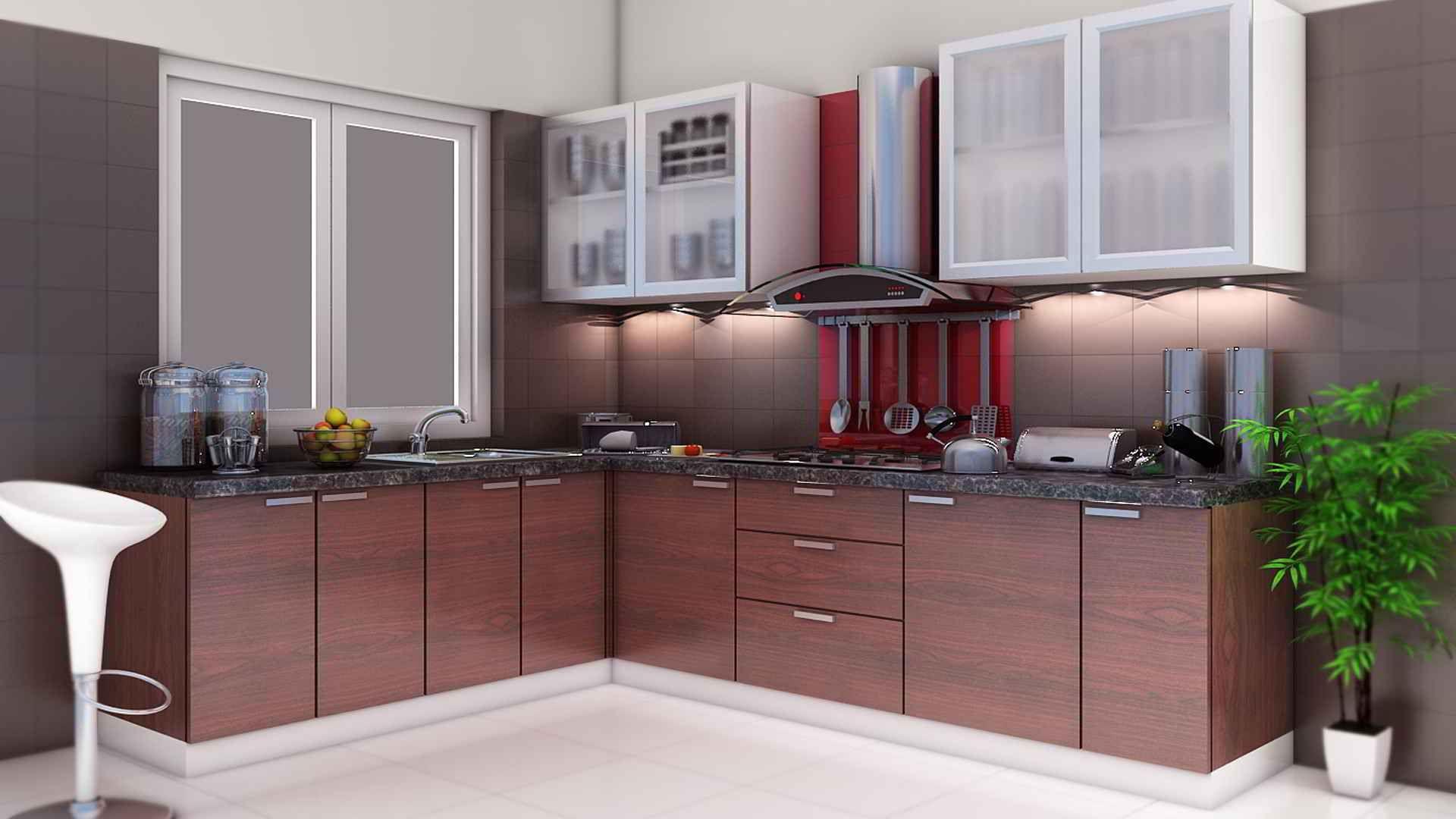 modular kitchen shape kitchen dark brown kitchen cabinets modular ...