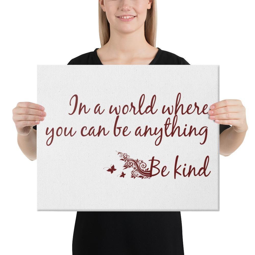 Choose to be Kind Canvas / kind / be kind / kindness / wall art / decor / inspirational / kindness print / home decor / kindness wall art - 16×20