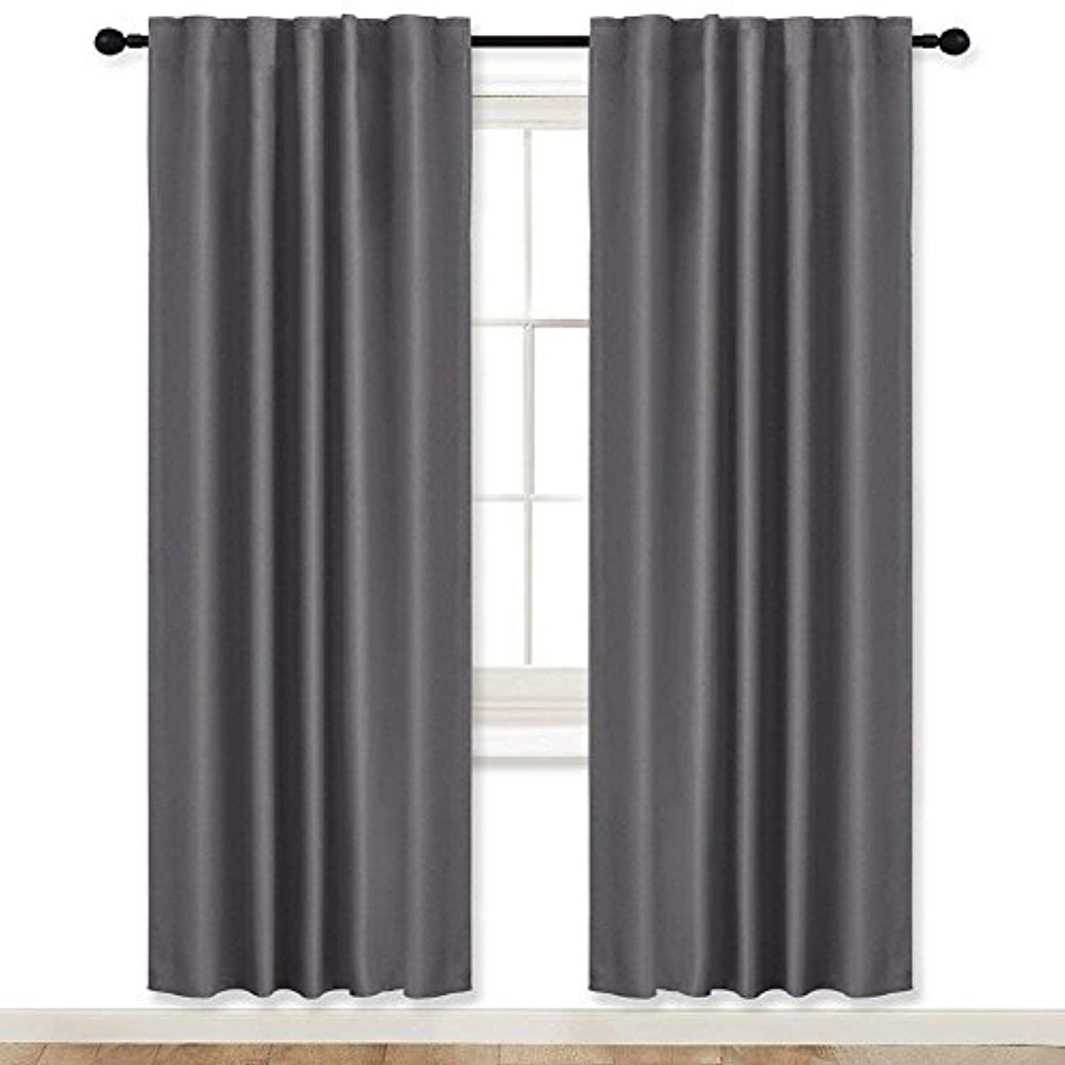 Living Room Blackout Curtains Draperies Grey Ryb Home 42 Wide X 72 Long 2 Pieces Window Treatments Room Dark Treatment Room Blackout Curtains Curtains