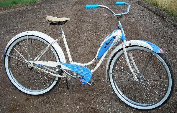 Vintage 1955 Schwinn Ladies Starlet Fattire Cruiser Bicycle Bicycle Schwinn Schwinn Bicycles