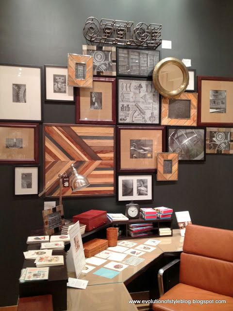 WOW - via Evolution of Style, Pottery Barn store display gallery wall