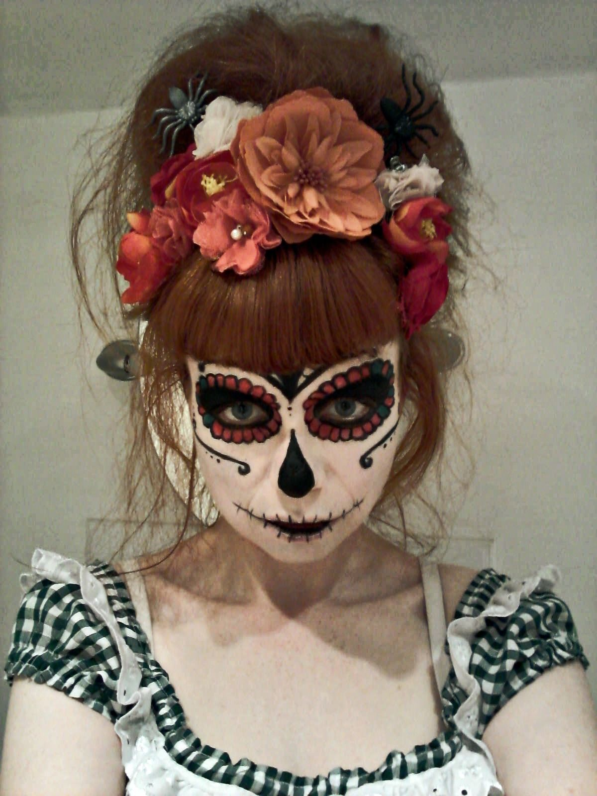Halloween Day Of The Dead Sugar Skull Look Makeup And Hair By Flamingo Amy Www Flamingoamy Co Uk Sugar Skull Makeup Sugar Skull Halloween