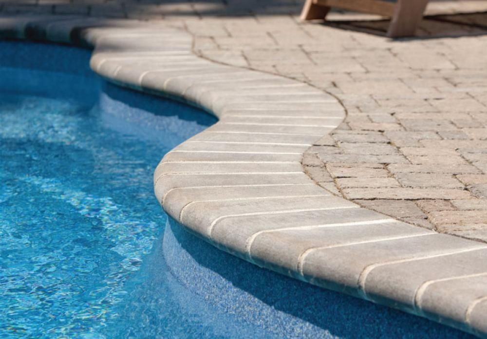 Pool Coping Repair Uses Sanded Grout Pool Coping Pool