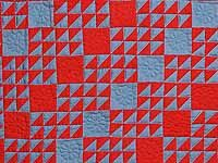 Indiana Amish Ocean Wave Variation Wall Hanging; Amish Country Quilts