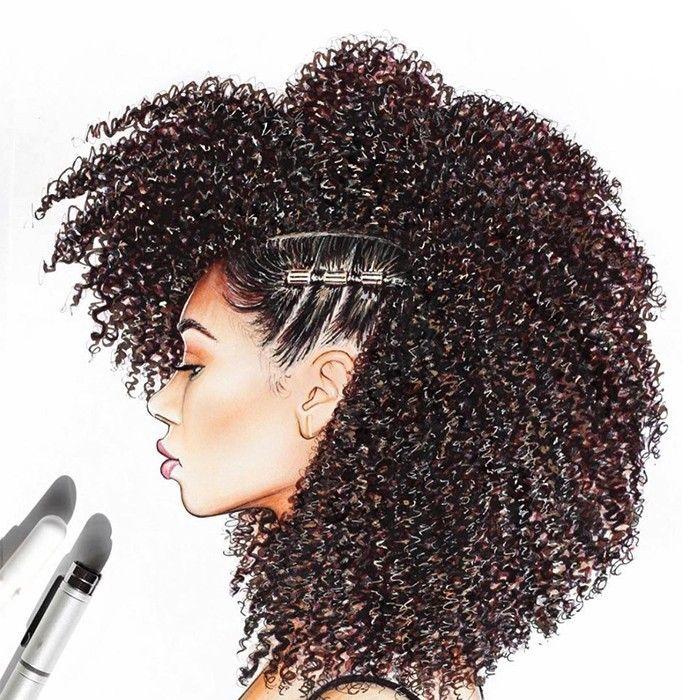 Natural Hair Drawings