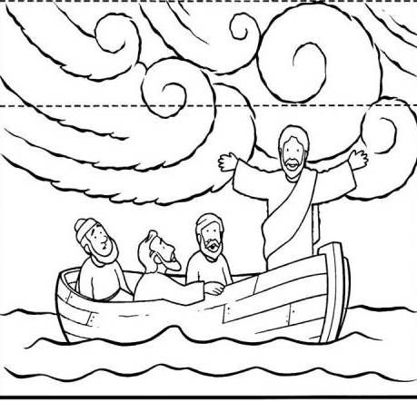 Jesus Calming The Storm Boat Coloring Page Coloring Pages