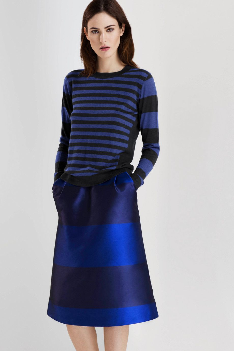Like the stripe on stripe outfit from iris u ink aida striped