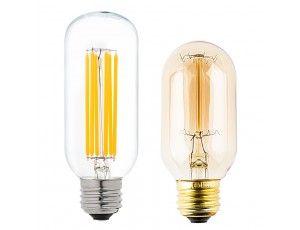 T14 Led Filament Bulb 60 Watt Equivalent Vintage Light Bulb Radio Style Dimmable 780 Lumens Vintage Light Bulbs Light Bulb Filament Bulb