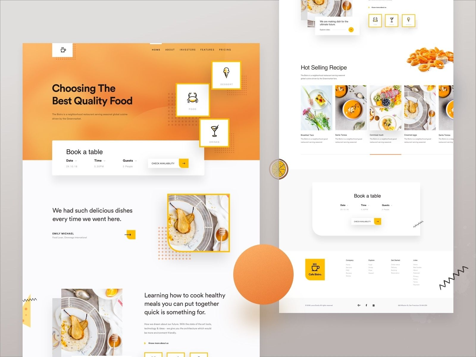 Food Home Delivery Web Concept For 2019 Web Design Quotes