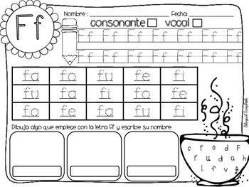 Letras Fabulosas {Alphabet Letter Practice in Spanish