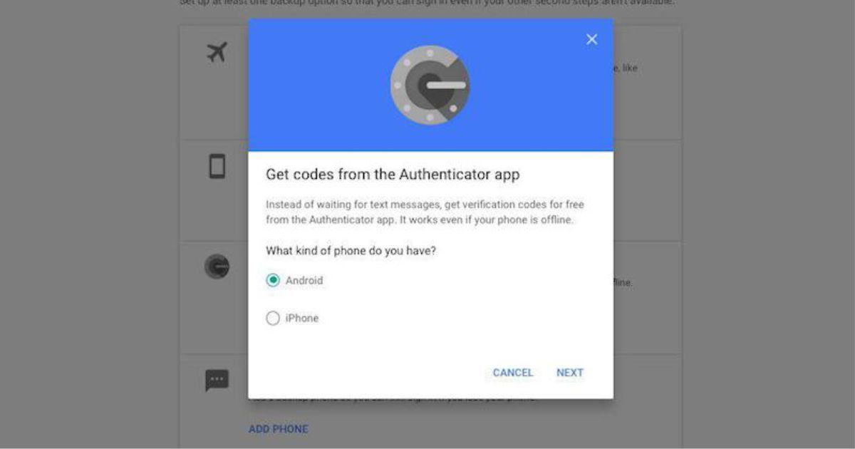 How to use google authenticator app to secure your gmail
