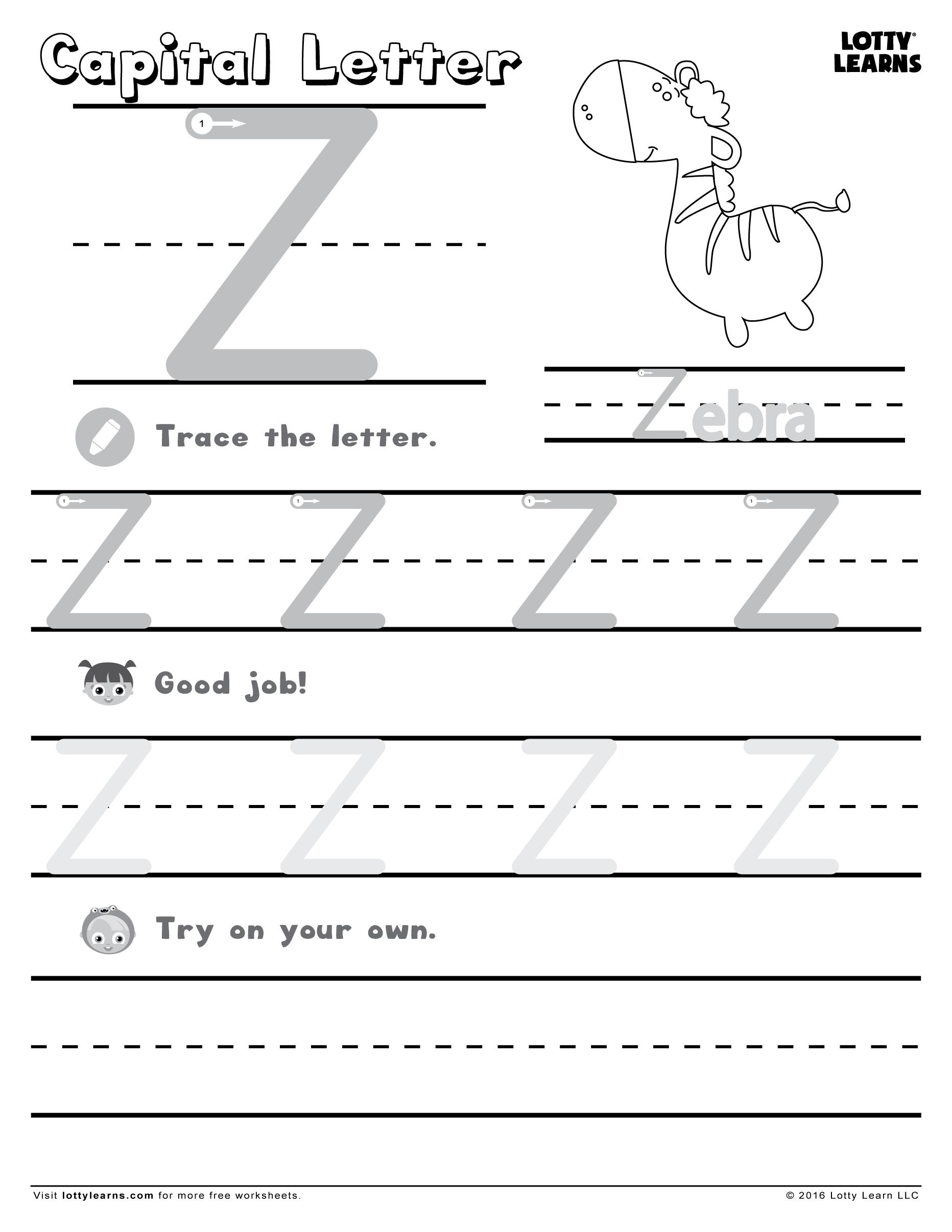 Capital Letter Z