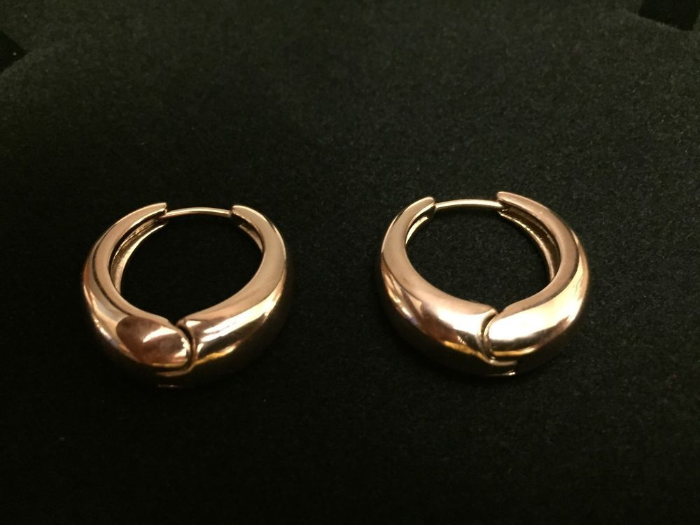 gold snap g diamond hoop earrings white pin cts back round h