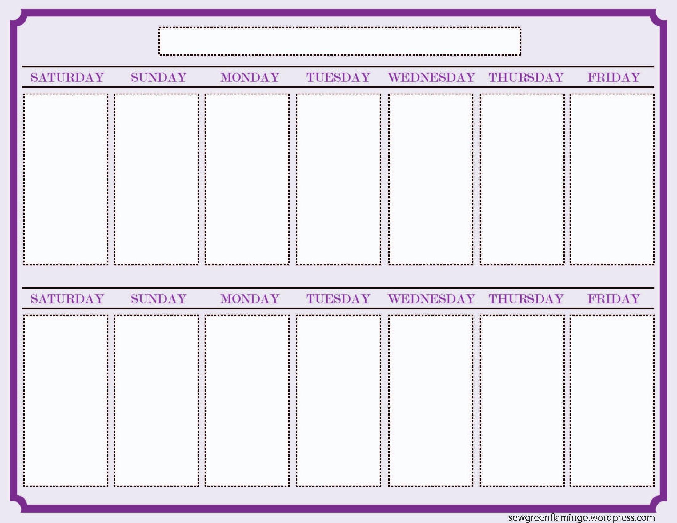 Printable 2 Week Calendar Two Week Calendar Template Free Printable Calendar Monthly Free Calendar Template Blank Calendar Template Free Weekly Calendar