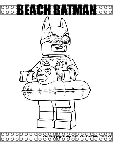Coloring Page – Beach Batman | Lego colour ins | Pinterest