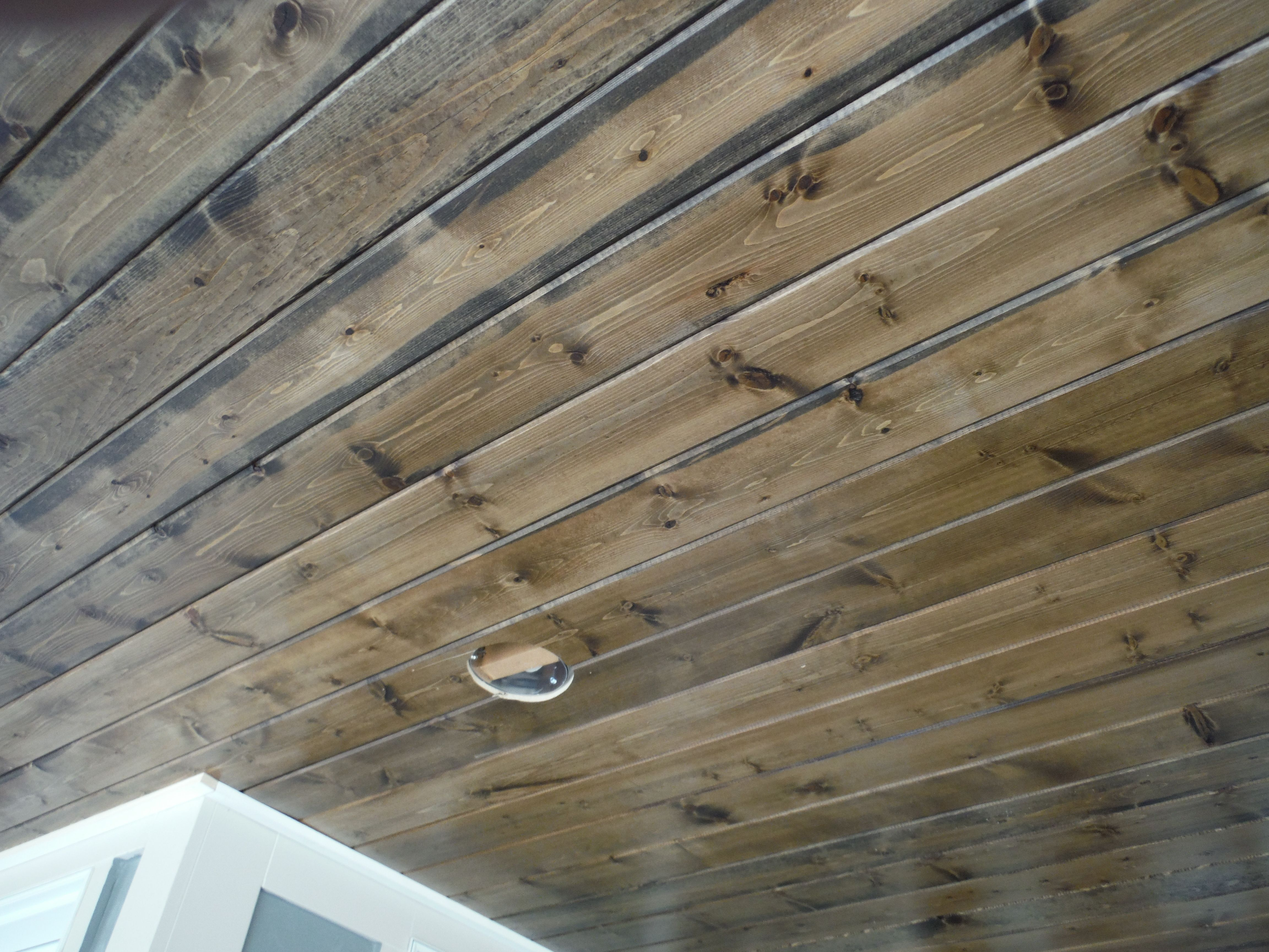 Plywood Plank Ceiling Pine Car Siding Porch Ceiling Stained Hardie Shingle Board