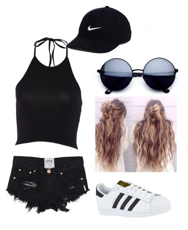"""Untitled #4"" by emmaalexandra62 on Polyvore featuring adidas and NIKE"
