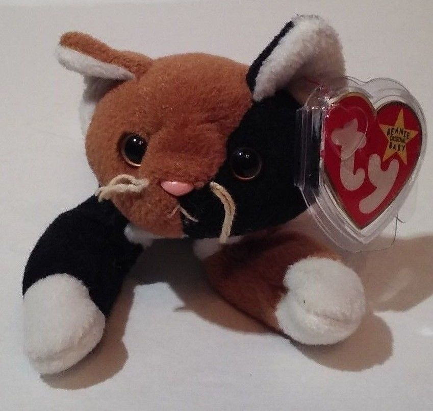 Chip The Calico Cat Ty Beanie Baby PVC 5th Gen Hang Tag 6th