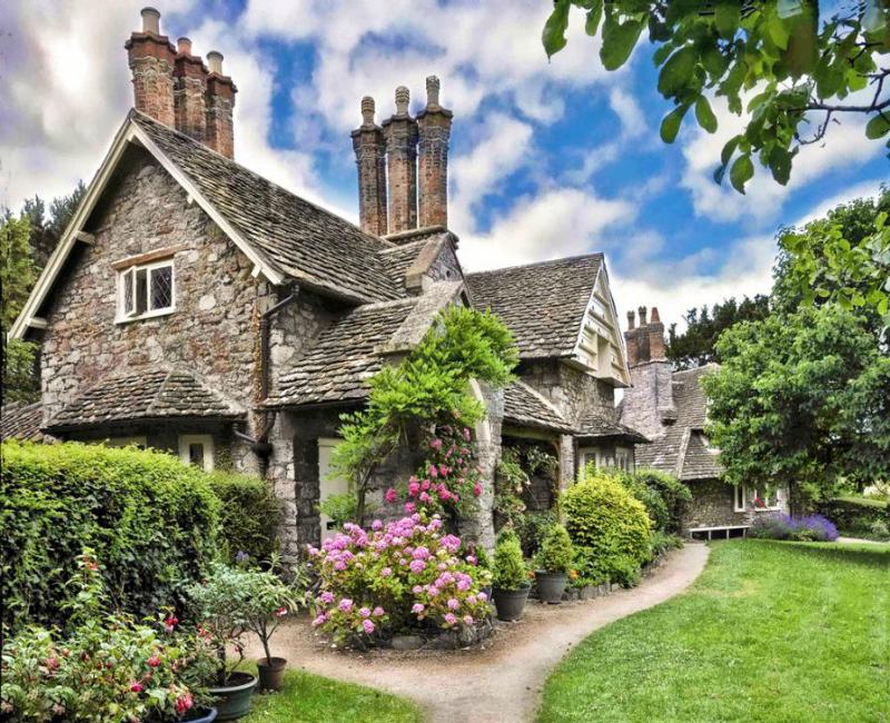 English Stone Cottage House Plans english stone cottage - decoist | stone cottages, stone and