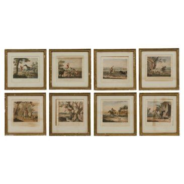Check out this item at One Kings Lane! English Hunting Prints, Set of 8
