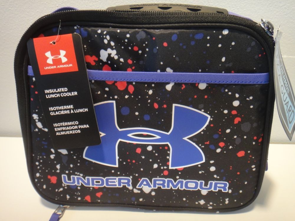 95b302e155 Under Armour Thermos insulated Lunch Cooler Color Purple Black Red White # Underarmour #LunchBoxCooler