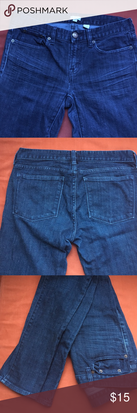 JCrew Jeans Always got compliments on these jeans but they are too small now for me! J. Crew Jeans Straight Leg
