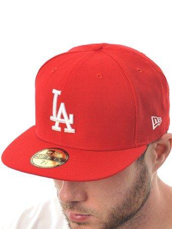 hot sale online 93151 2b83d New Era Scarlet-White MLB Basic 59Fifty LA Dodgers New Era Cap   New Era    FreestyleXtreme