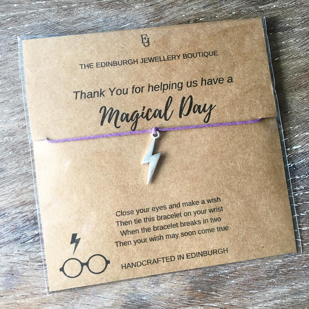 Give Your Friends Dainty Harry Potter Jewelry To Let Them Know They Re Magical Harry Potter Birthday Cards Wish Bracelets Birthday Card Template