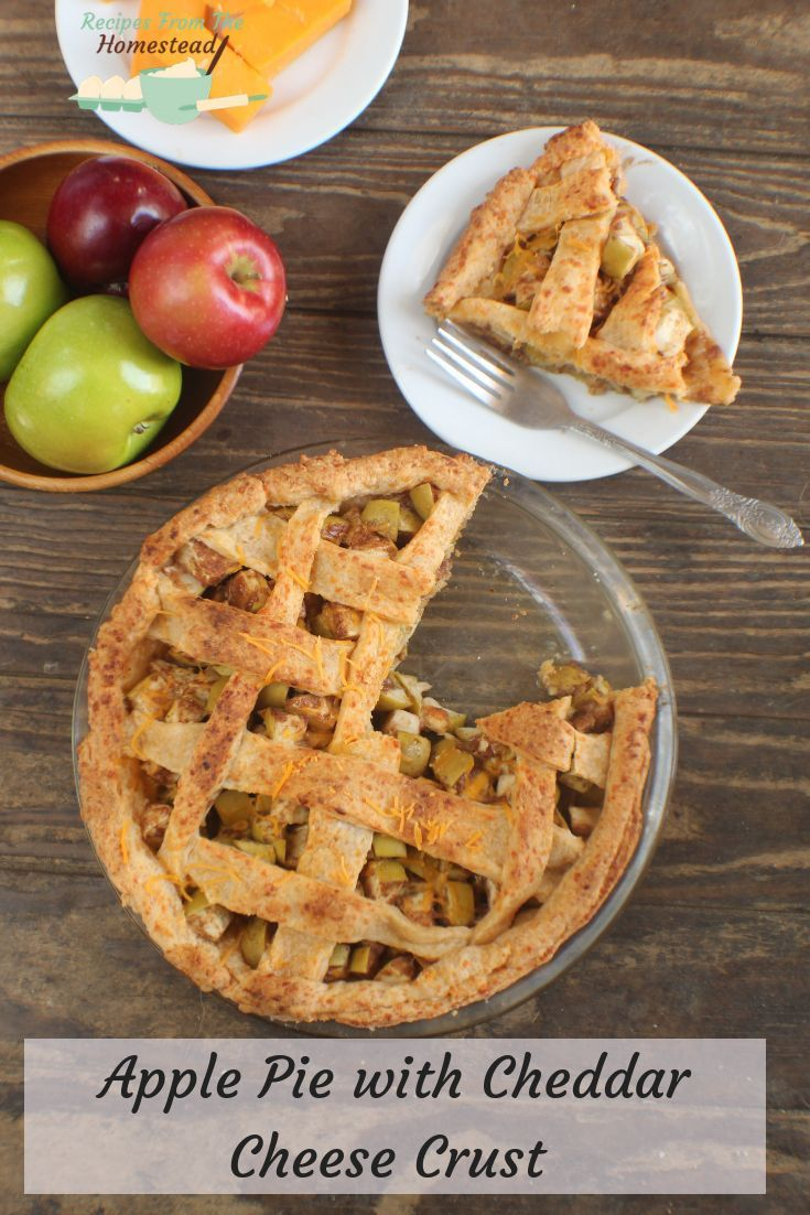 Apple Pie With Cheddar Cheese Crust - Recipes from the Homestead Take your apple pie up a few notch