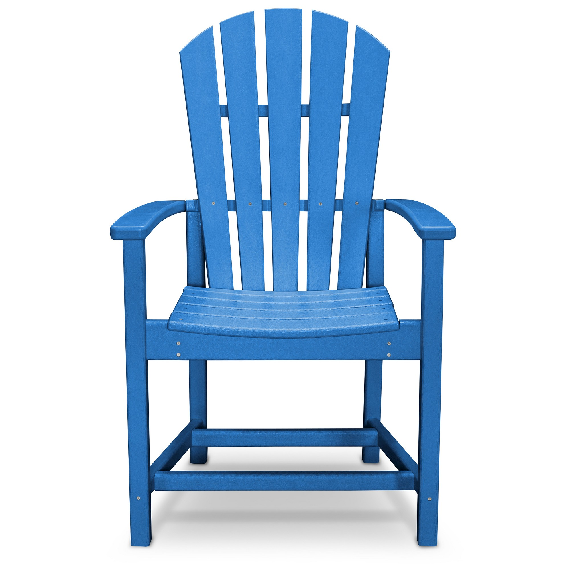 Enjoyable Polywood St Croix Pacific Blue Patio Adirondack Dining Chair Gamerscity Chair Design For Home Gamerscityorg