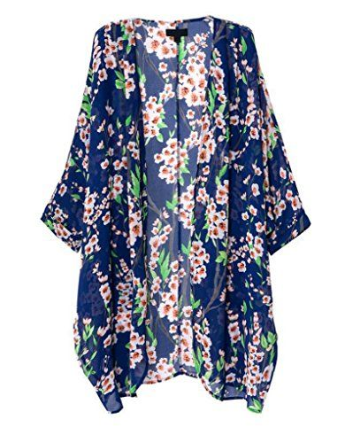 881dc020b How to Sew a Kimono Top or Jacket | The Polka Dot Chair. Mixmax Vintage  Women Floral Print Long Loose ...
