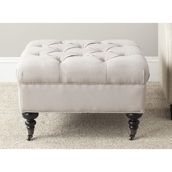 Safavieh Angeline Taupe Ottoman | Living rooms | Pinterest