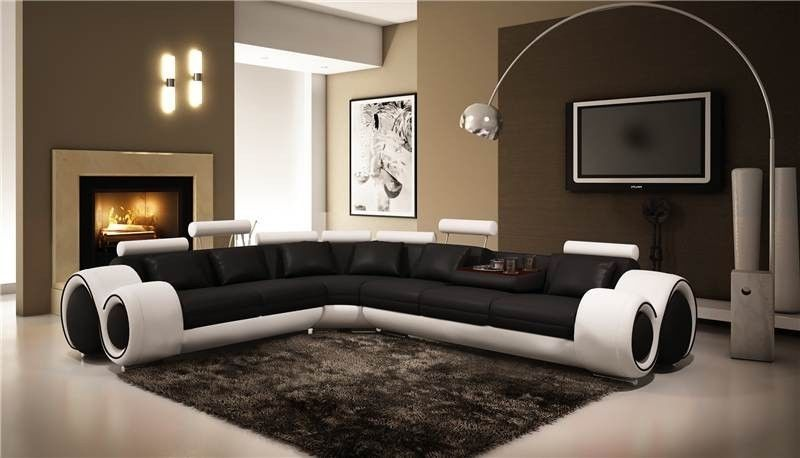 Swell Nova Black And White Leather Corner Sofa Left Hand Ebay Ncnpc Chair Design For Home Ncnpcorg