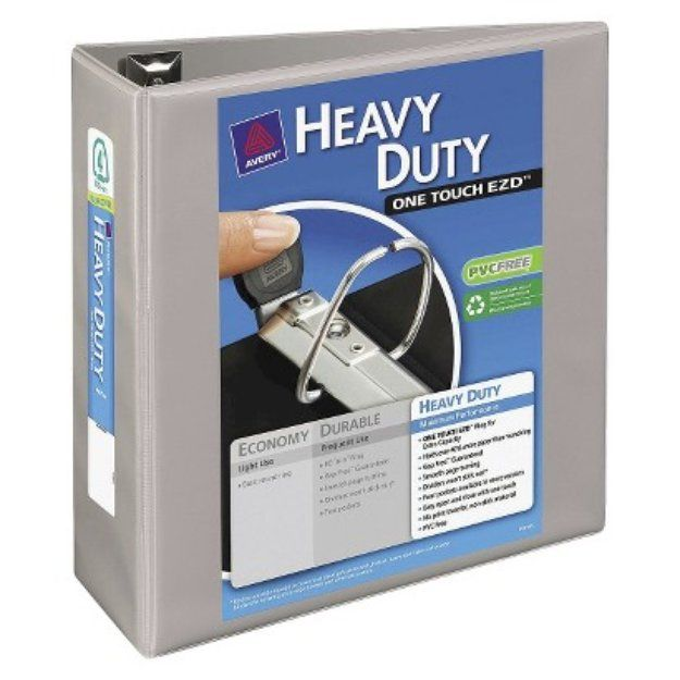 "Avery Heavy Duty View 4"" Capacity Binder with One Touch EZD Rings -"