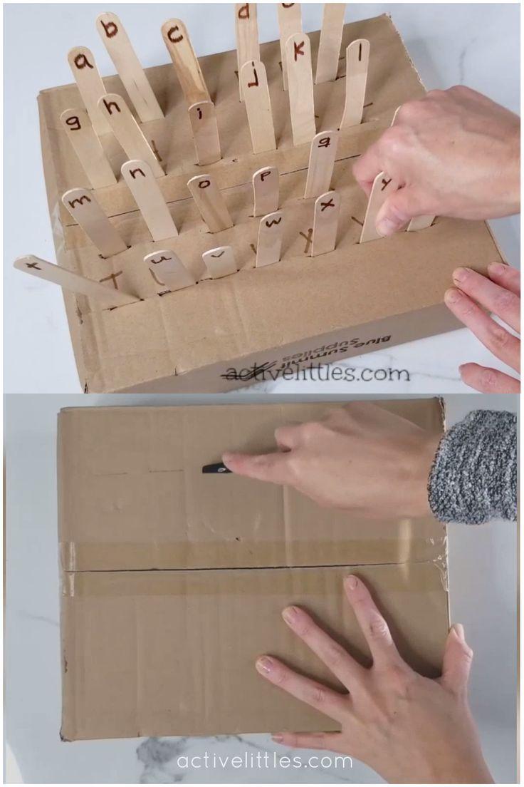 Alphabet Cardboard Box Activities For Kids - Activ