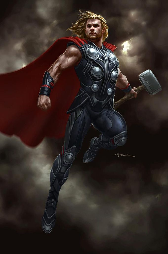 The Avengers Concept Art by Andy Park   comic art   Marvel