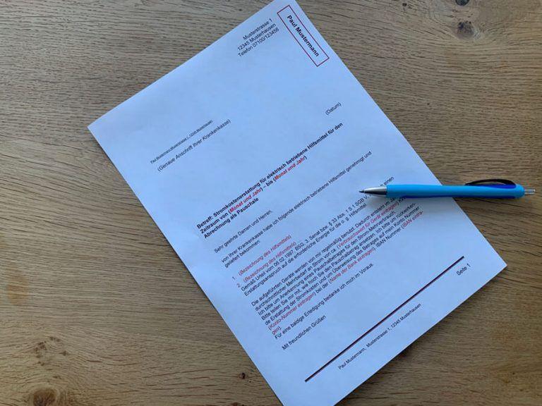 Stromkostenerstattung Fur Elektrische Hilfsmittel Musterbrief In 2020 Hilfsmittel Erste Hilfe Brief