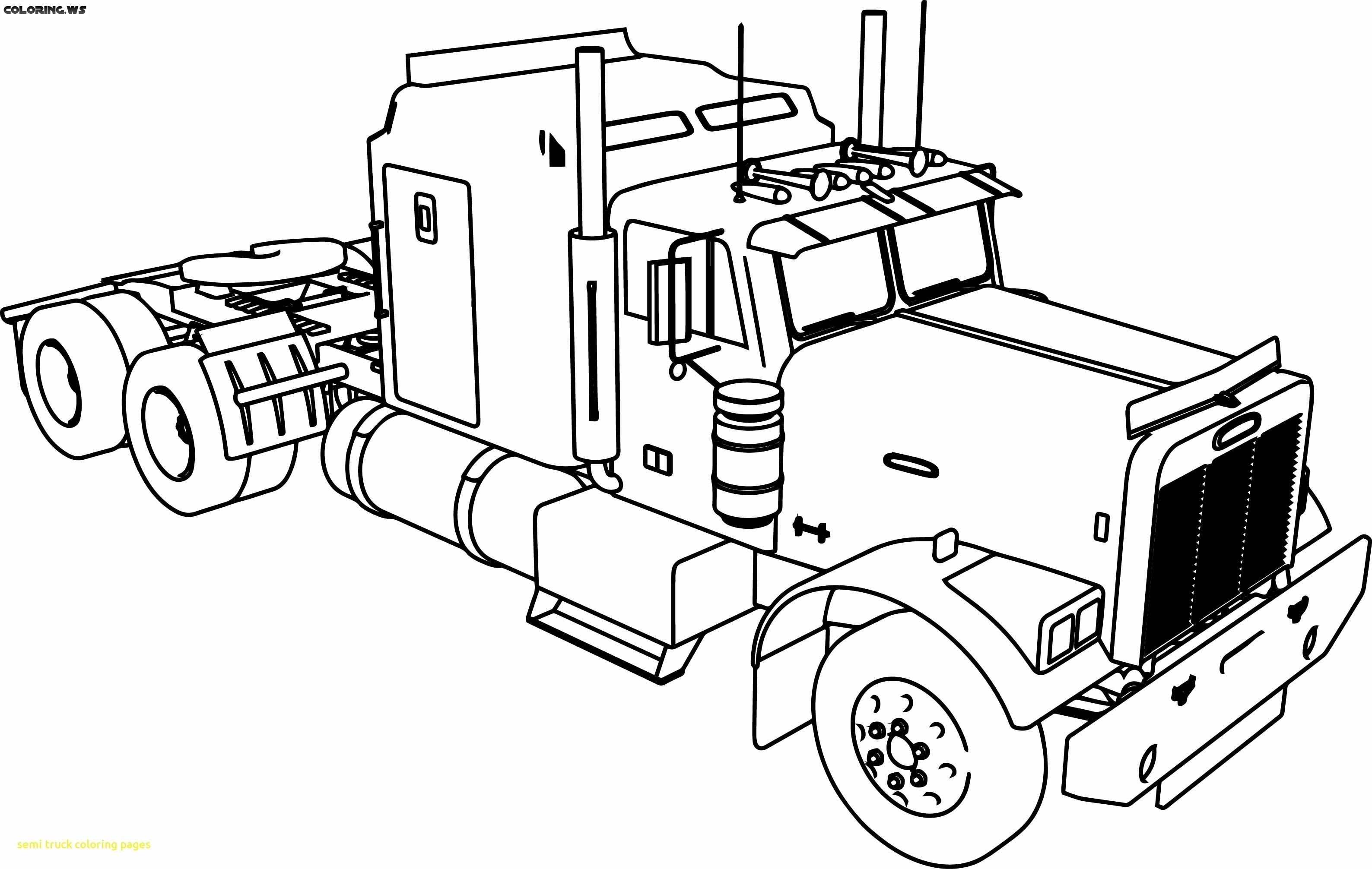 Semi Truck Coloring Pages Anyone Good At Drawing I Need A