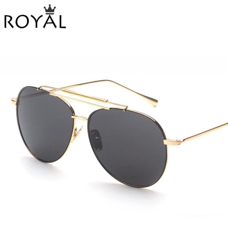 eab88cae20a ROYAL GIRL New Fashion Women Sunglasses Classic Double Bridge Shades ...