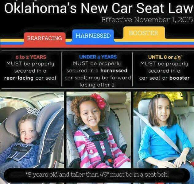 Oklahoma Car Seat Law Seats New, What Is The Law For Booster Seats In Oklahoma
