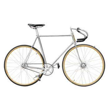 Bespoke Jefferson Avenue Bicycle. This handmade, chrome-plated bespoke bike has a minimal aesthetic reminiscent of old track bicycles.