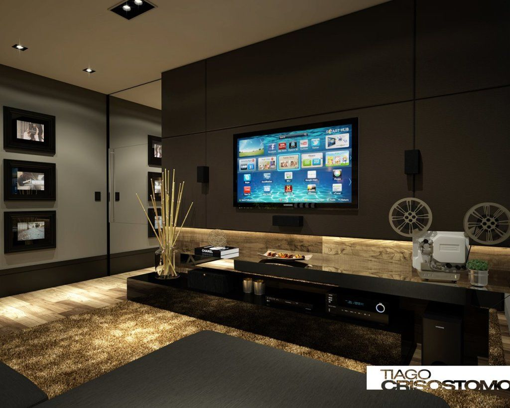 Home Theater Sala TV Pinterest Maison Meuble Tv E