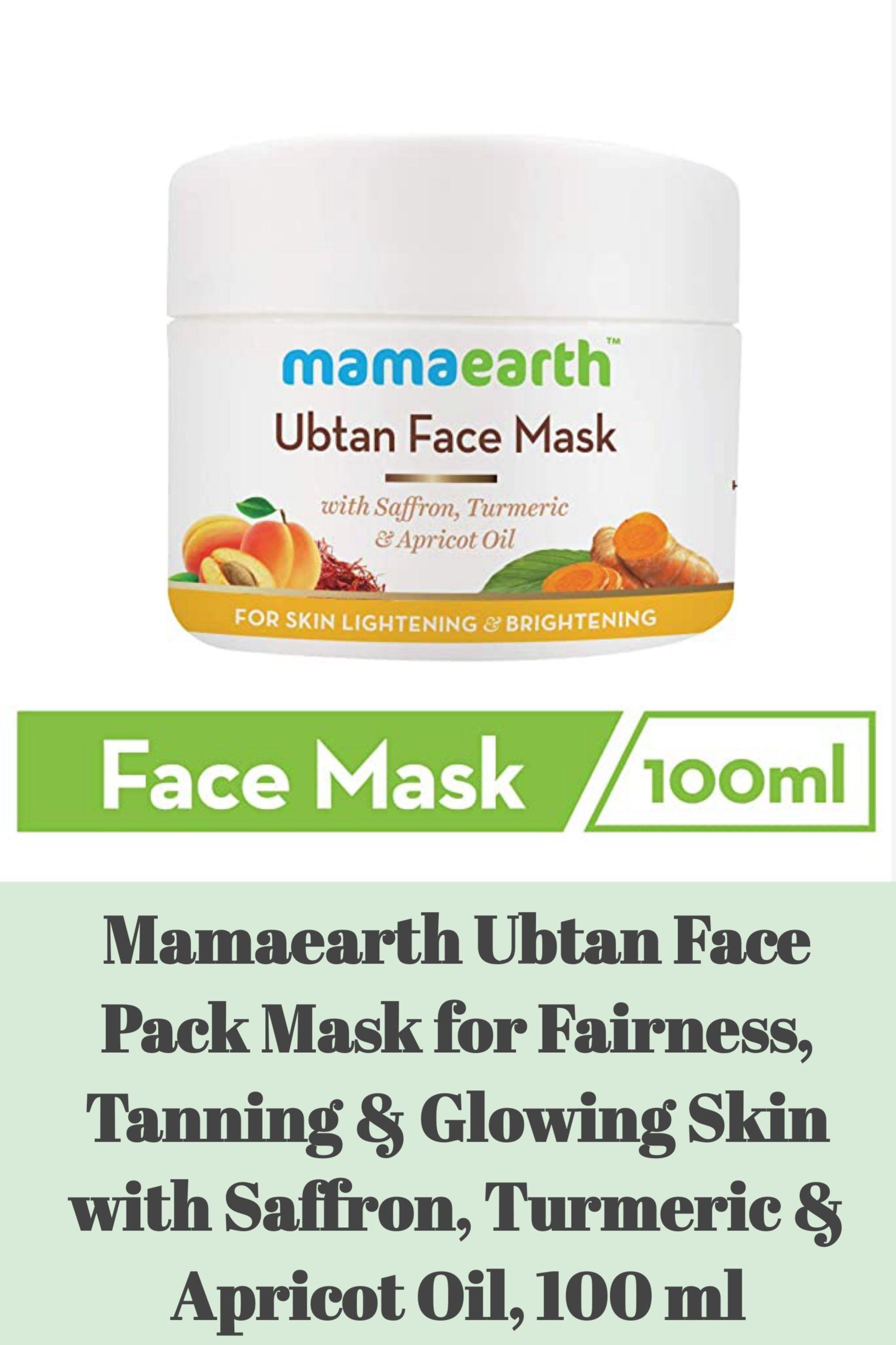 Mama Earth Abtan Face Mask In 2020 Brightening Face Mask Glowing Tan Skin Turmeric Oil