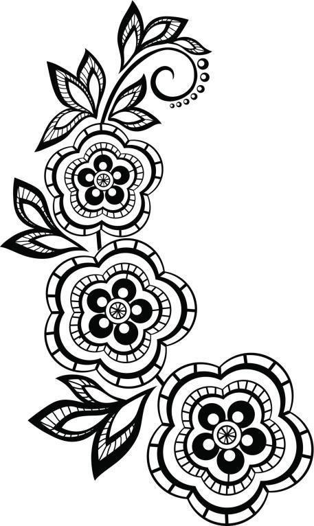 Diseños de arabescos para tatuajes   Colorear   Bordado, Dibujos y Henna