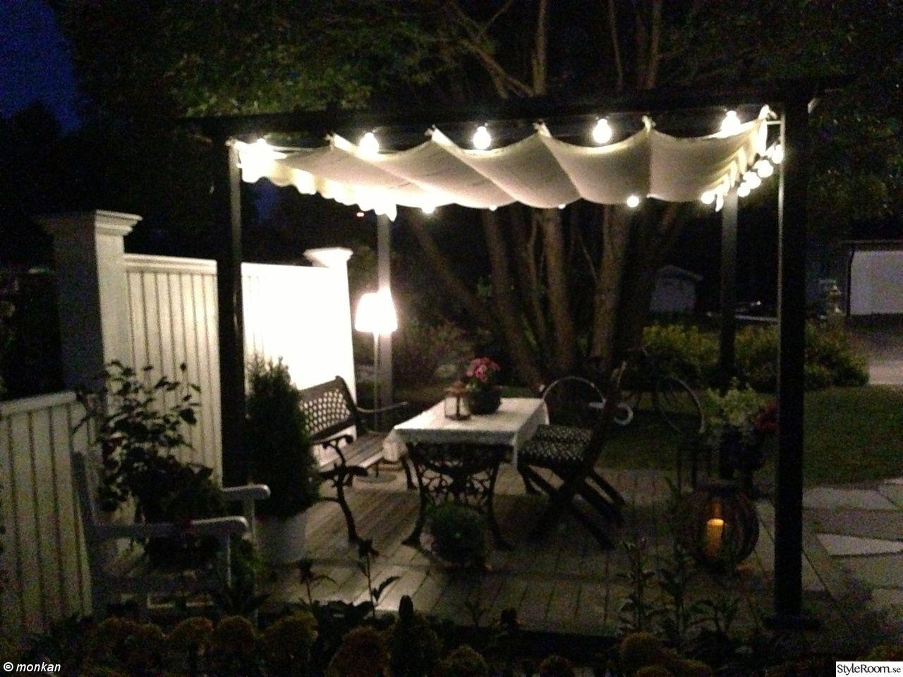 pergola,ledbelysning,belysning,trädgård,uteplats | uteplats ...