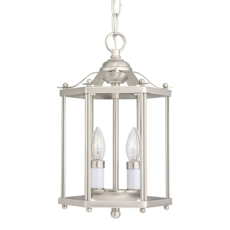 Sea Gull Lighting Bretton 7.25-In Brushed Nickel Country Cottage ...