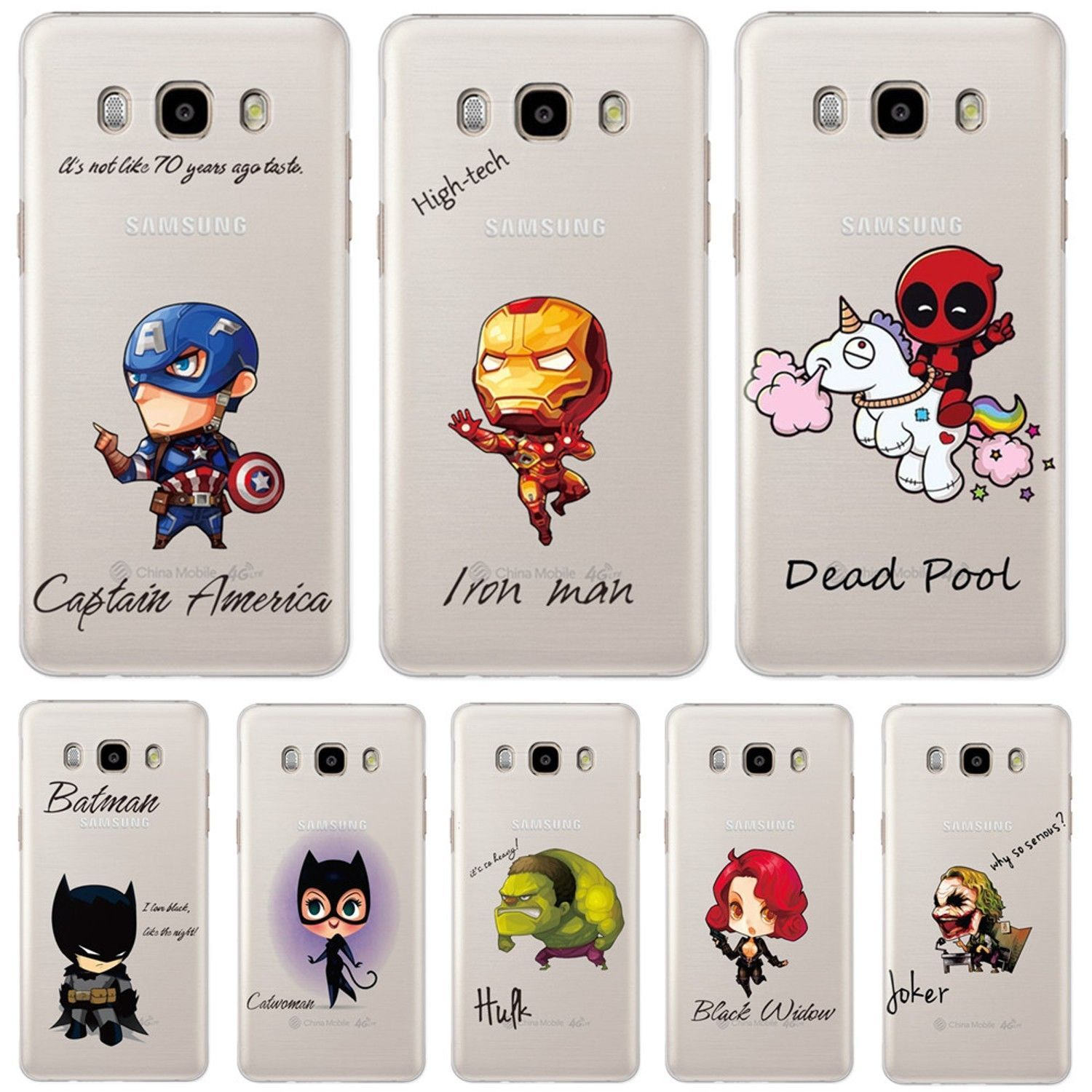 85e70ed8a2f Marvel Heroes Phone Case Cover For Samsung Galaxy S8 S8+ S7 S6 Edge Joker  Batman
