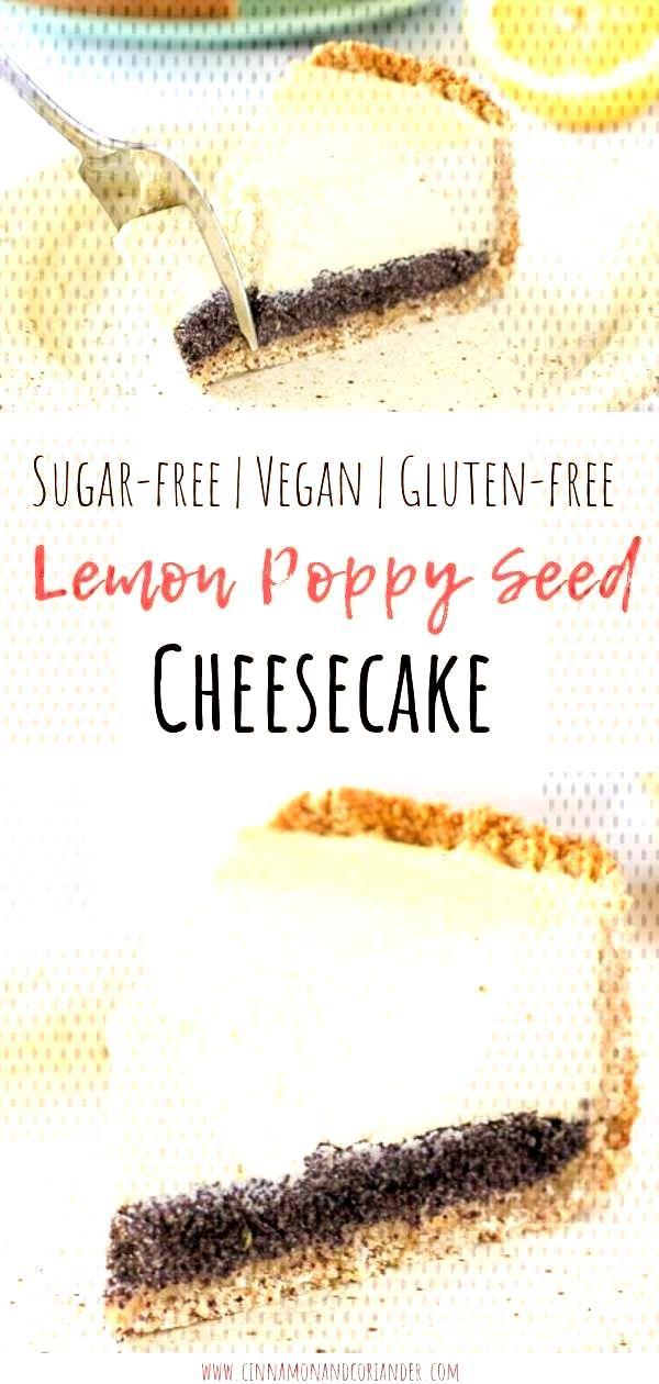 Vegan cheesecake with poppy seeds (sugar-free, gluten-free) - Vegan cheesecake with poppy seeds (s