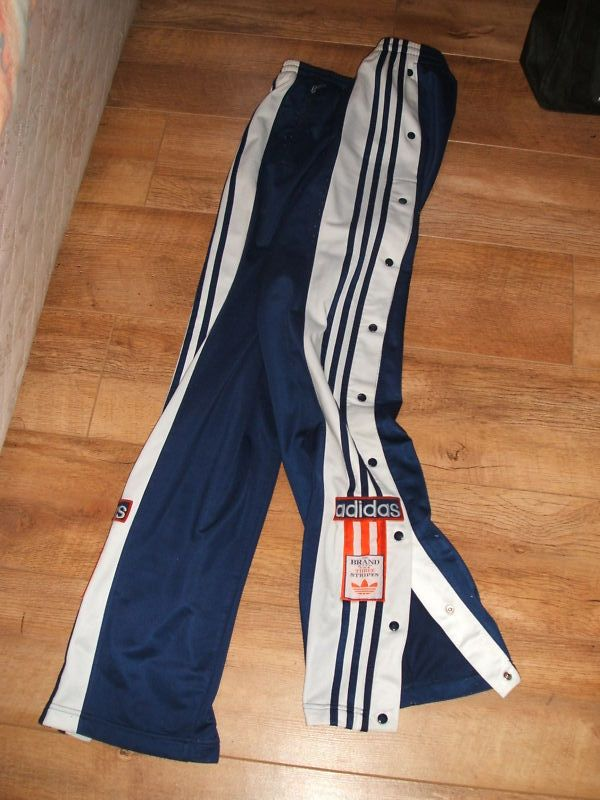 Adidas poppers. Both the most amazing and the most ridiculous fashion item known to man. #ninetiesfashion