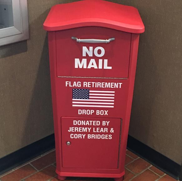 Residents Provide Box For Proper Disposal Of Worn Out Flags Surfky News Boy Scout Activities Eagle Scout Project Ideas Boy Scouts Eagle